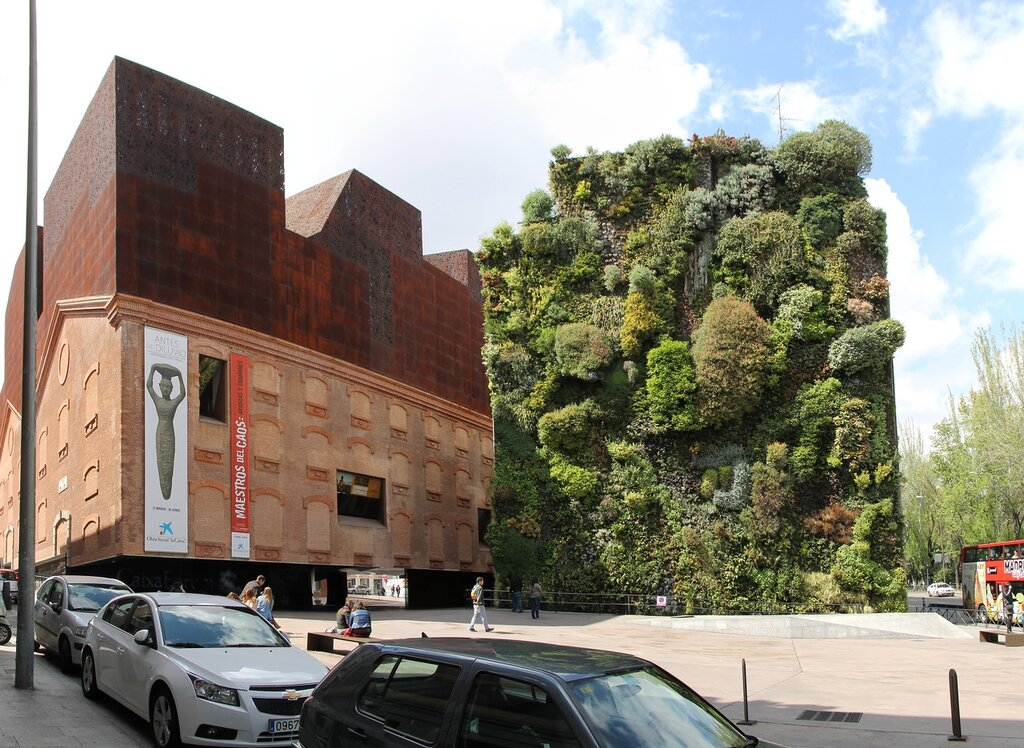 Madrid. Vertical garden Caixaforum (Jardín Vertical Caixaforum)