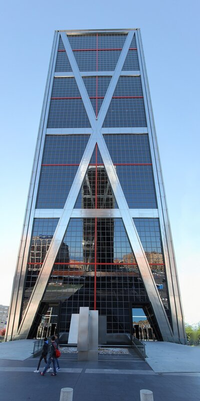 Madrid. Towers the Gate of Europe (Puerta de Europa)