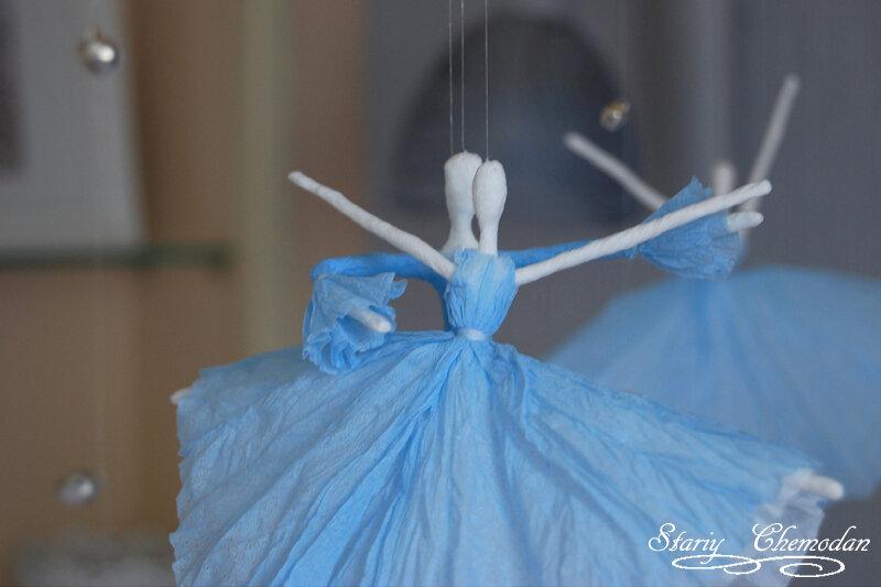 Балерина своими руками из салфеток 2