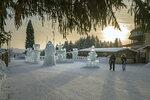 Прощание с ледовым городком после встречи 2018 года