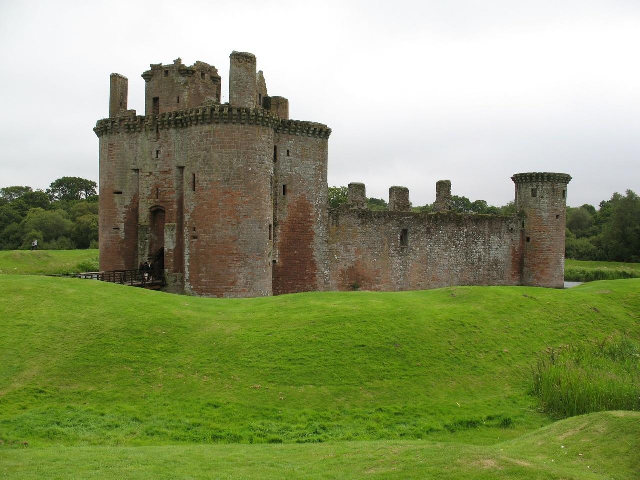 Обои Caerlaverock Castle, scotland, руины, замок. Разное foto 16