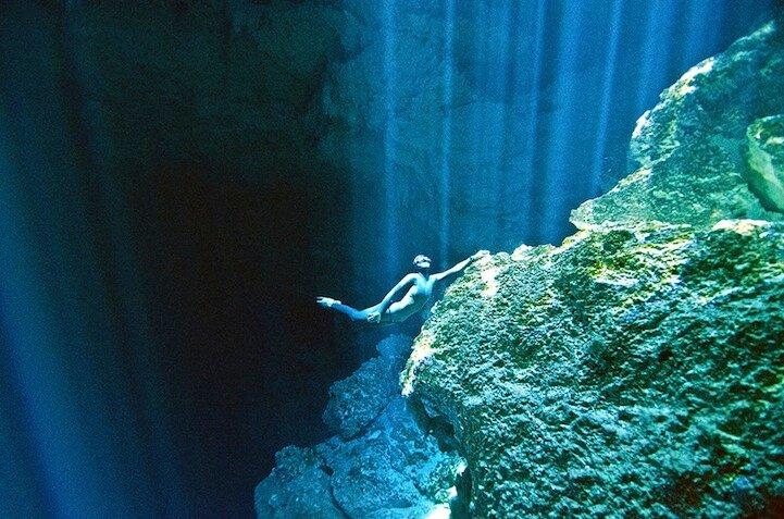 Подводные снимки дайверов