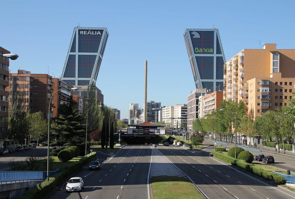 Мадрид. Башни Ворота Европы (Puerta de Europa)
