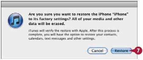 На экране iTunes откроется окно настройки iPhone