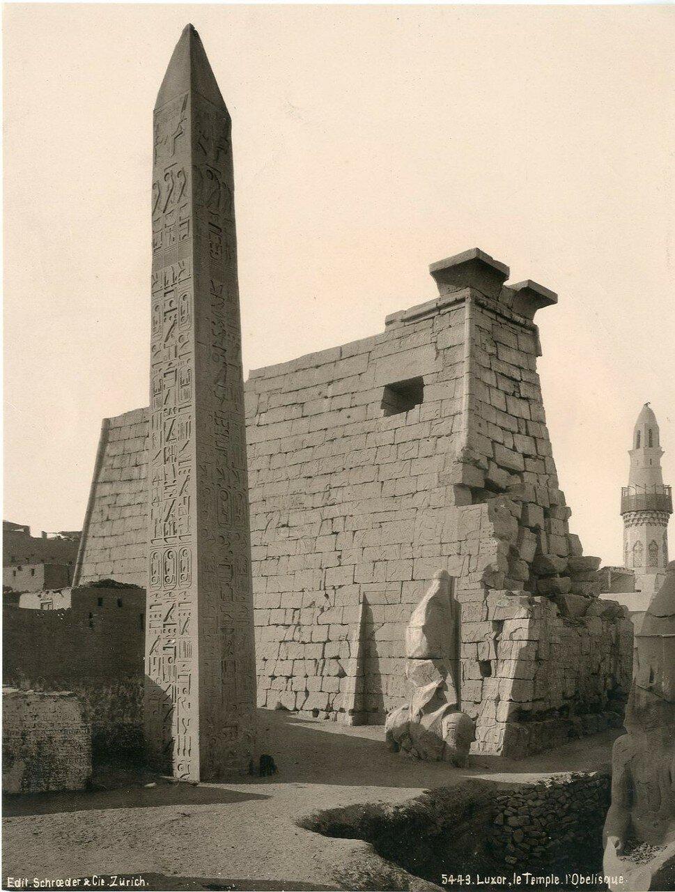 Луксор. Храм и Обелиск. 1900-е