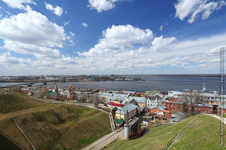 Нижний Новгород. Взгляд на «Стрелку»