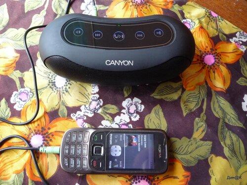 Canyon CNA-BTSP01 (подключение через аудиокабель)
