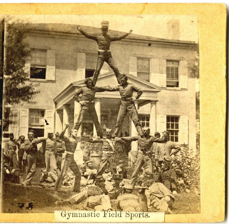 The Human Pyramid, Gymnastic Field Sport, ca. 1861–1865. (Gilder Lehrman Collection)