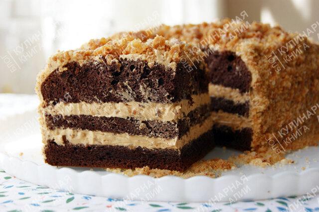 торт с карамельным кремом рецепт