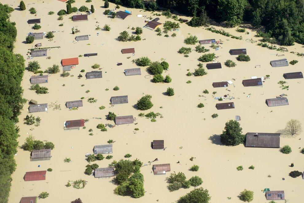 Результат наводнения в Центральной Европе