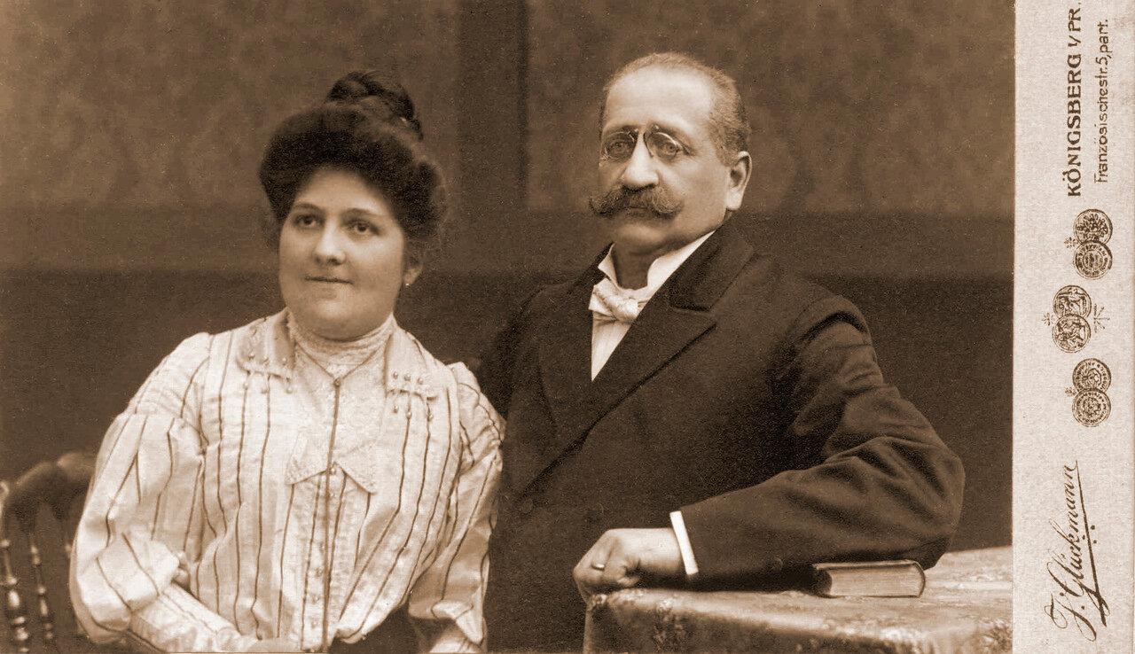 Портрет супругов Сасс 1905 год.