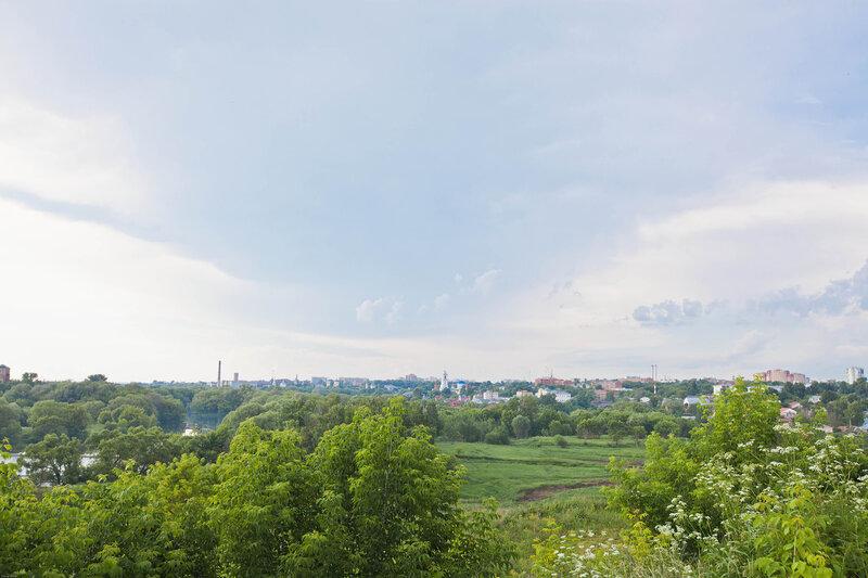 Вид на Серпухов с Высого холма