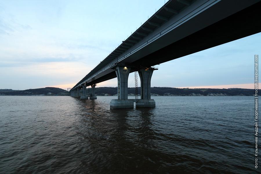 Мостовой переход длиннющий! Почти 14 километров