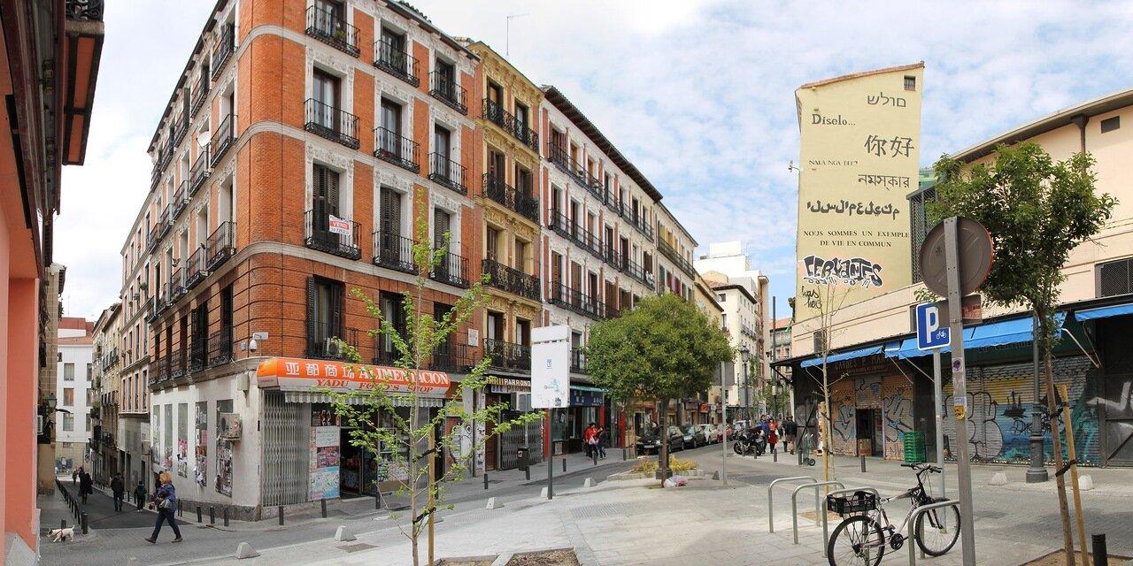 Madrid. Lavapies. Santa Isabel Street