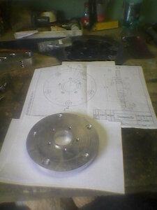 Планшайба для перехода с диска от Магны на диск от ZZR-1100