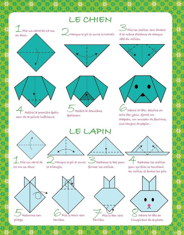 Оригами простые схемы зверей