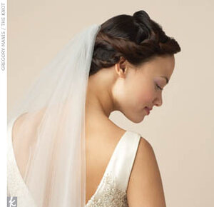 Фото свадебных причесок для длинных волосы с фатой