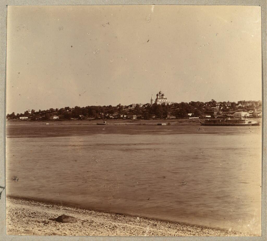 Город Борисоглебск. Общий вид. Правая сторона Волги. 1910