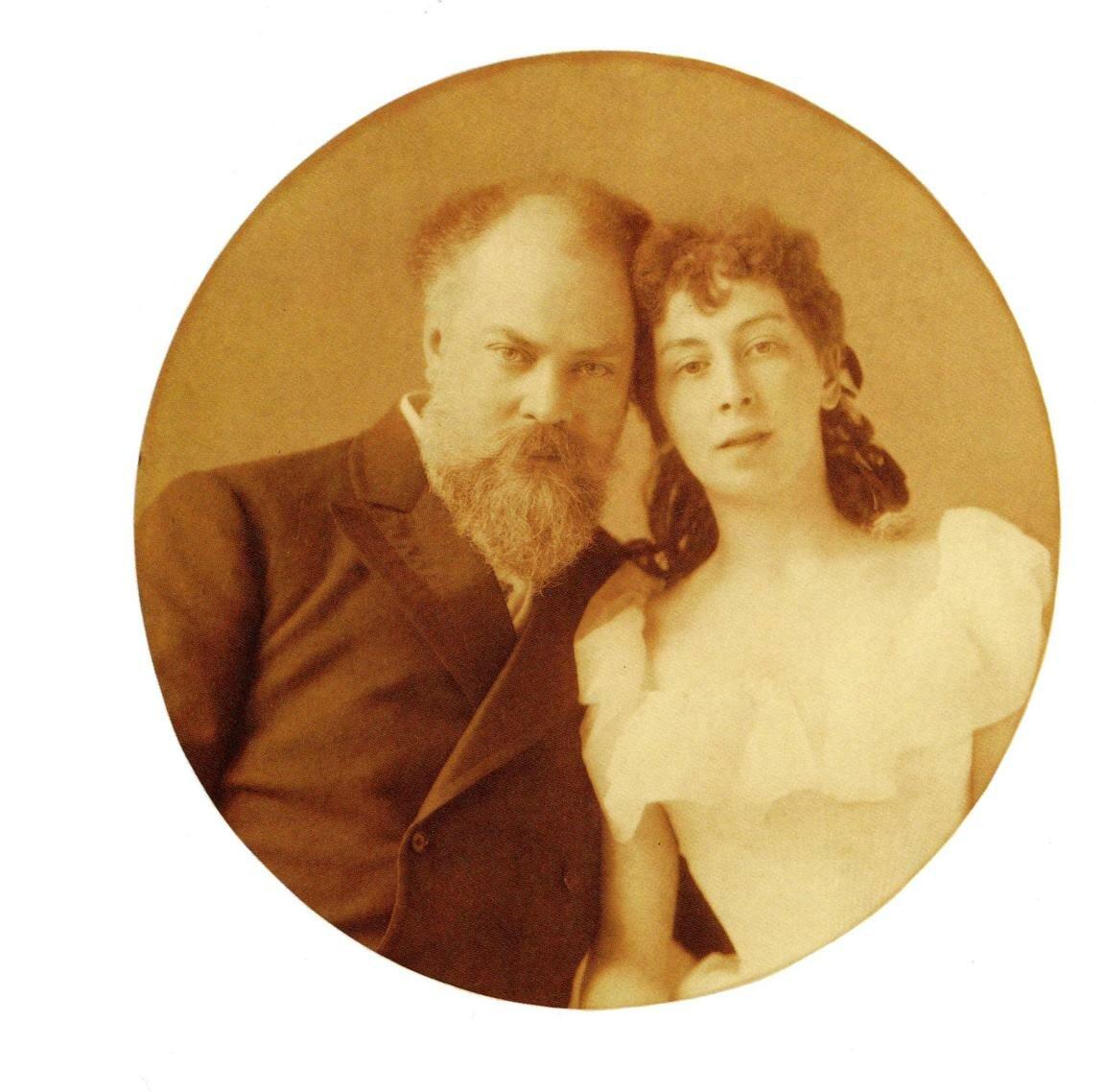 К.Е.Маковский с женой