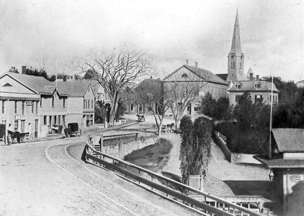 1865. Бруклин Виллидж,  вид с севера на площадь Вашингтона