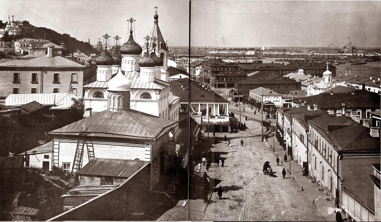 Нижний Новгород. Вид на Ивановский съезд и Скобу