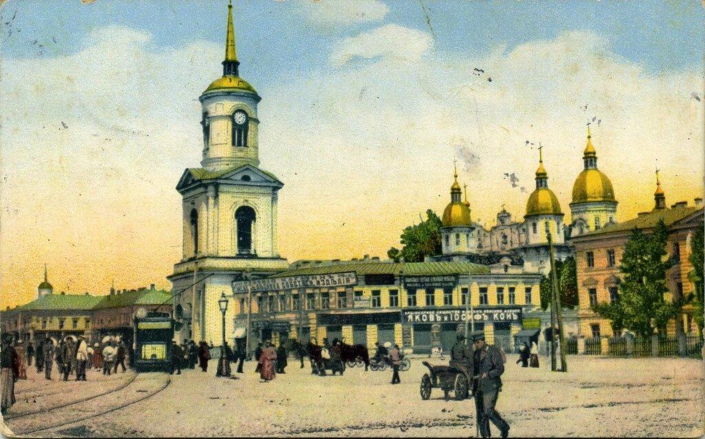 Братский монастырь. 1913 г. Основан в 1616 году. Находился между Контрактовой площадью и Набережно-Никольской, Ильинской Волошской улицами.
