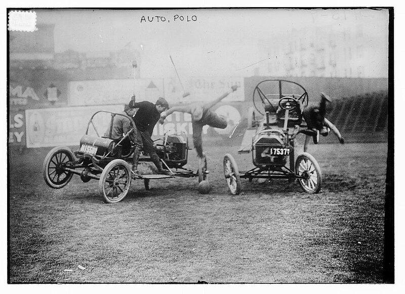 Auto Polo Accident, Coney Island NY, ca 1912