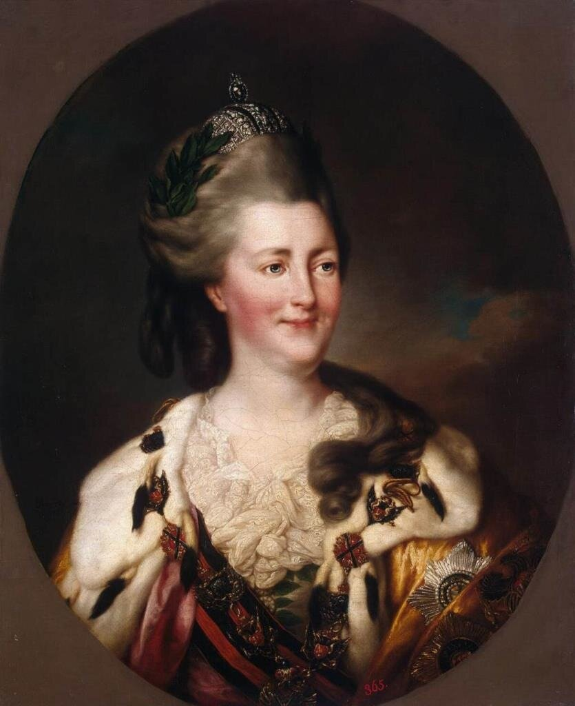 Portrait of Catherine II, c. 1782 .BROMPTON, Richard (ca. 1734-1783)The Hermitage, St. Petersburg