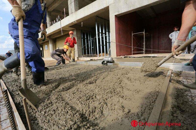 На стадионе «Открытие Арена» приступили к чистовой отделке (Фото)