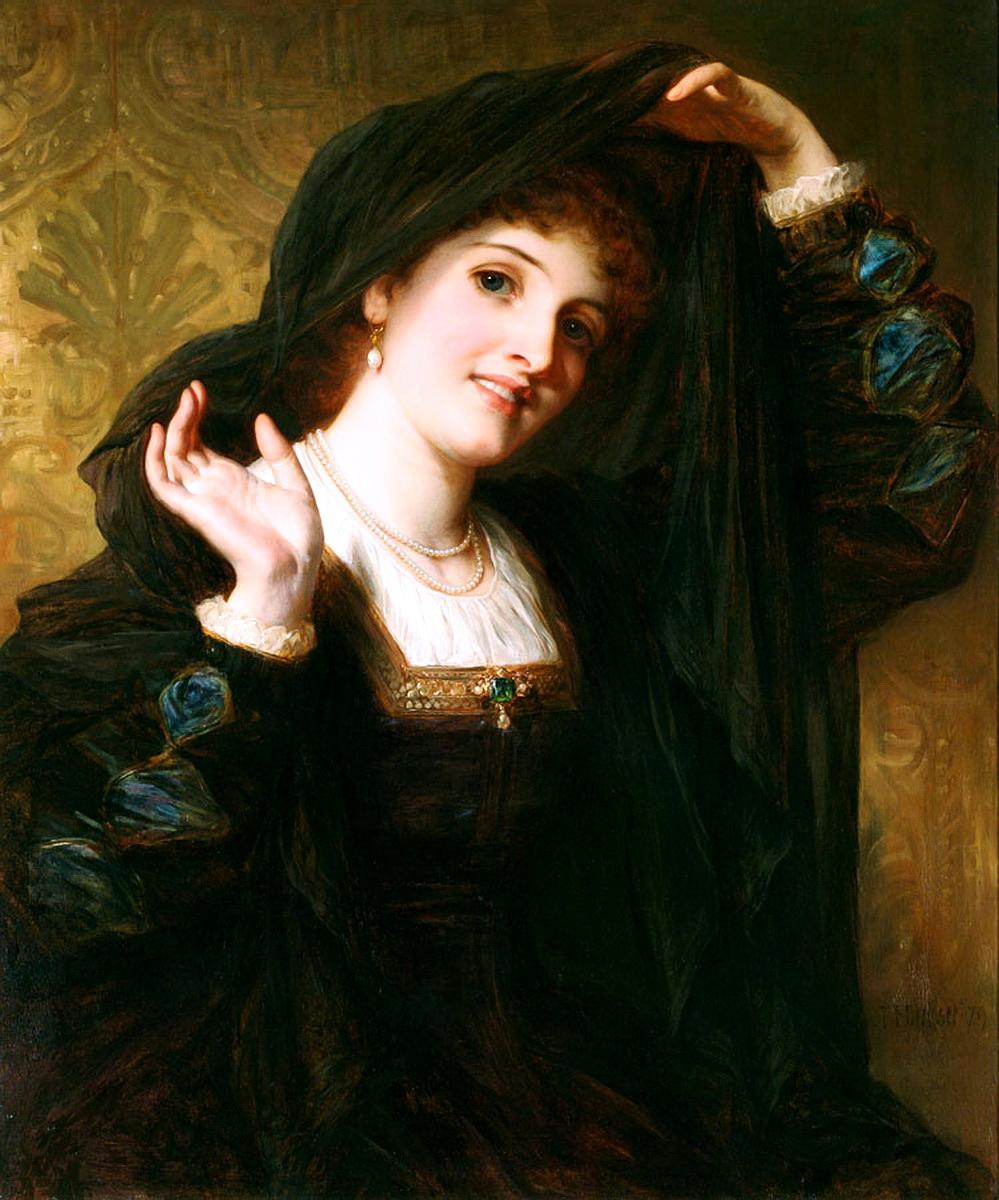 Thomas Francis Dicksee (British, 1819-1895) - Olivia Unveiling to Viola, 1879