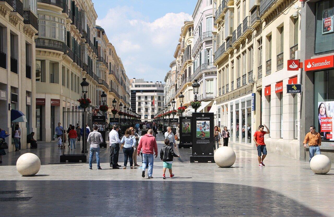 Малага. Улица Маркиза де Лариоса (Calle Marqués de Larios)