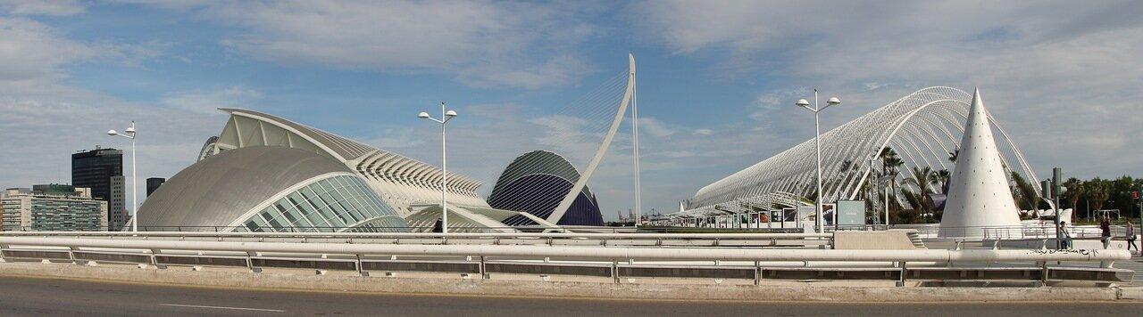 City of Arts and Sciences, Valencia. panorama