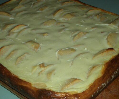 Фруктово-творожный пирог