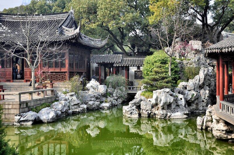Китай. Шанхай. Утро в Саду Радости