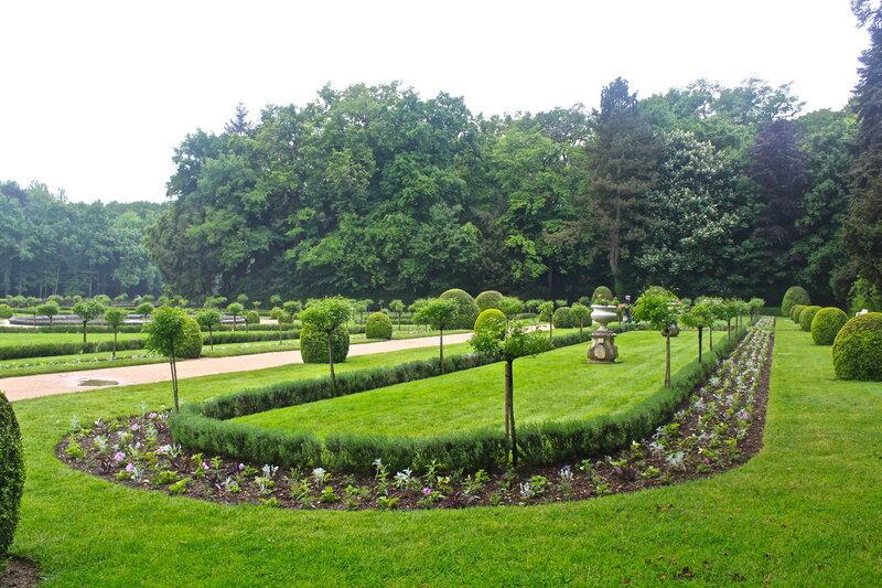 Сады замка Шенонсо.