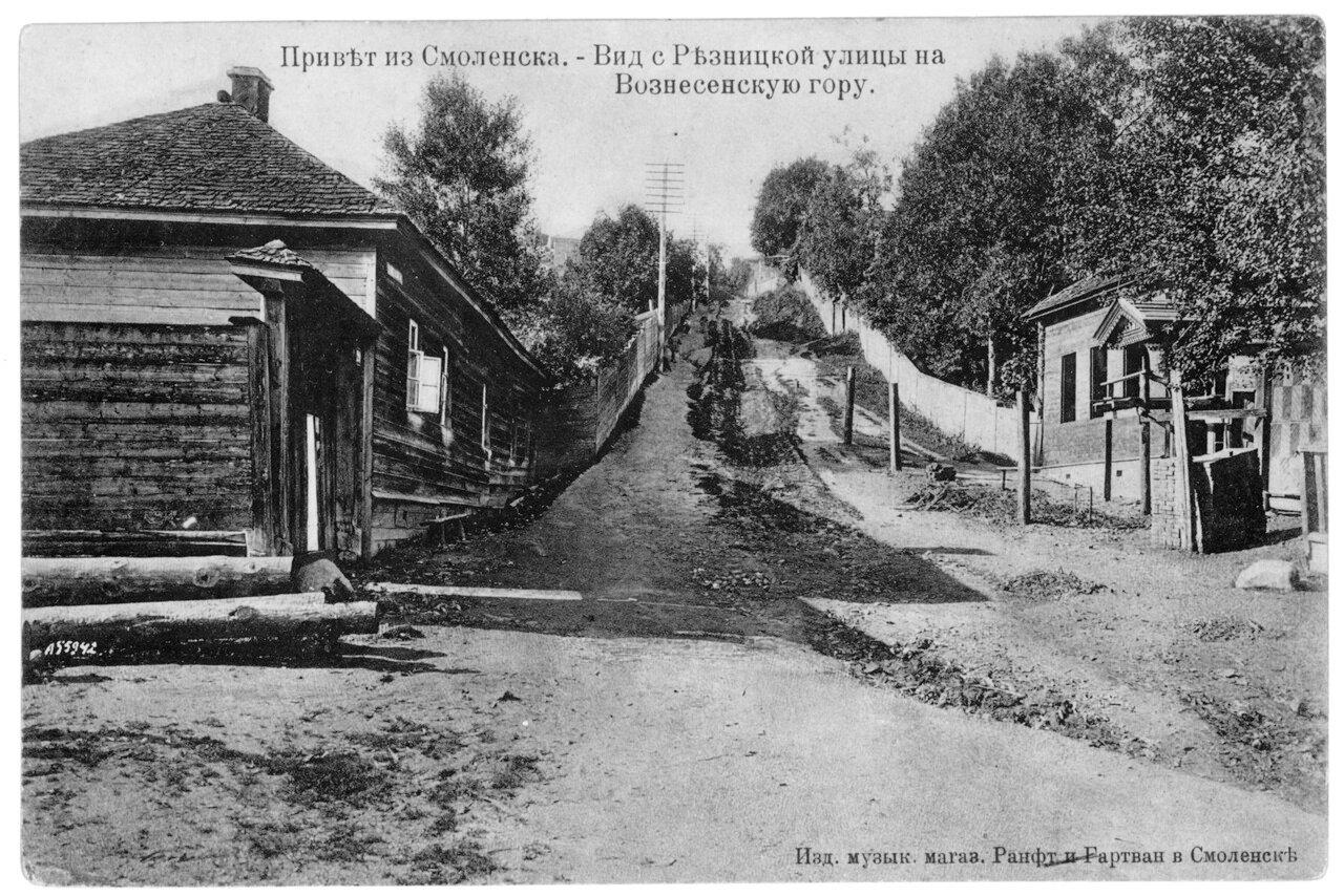 Вид с Резницкой улицы на Вознесенскую гору