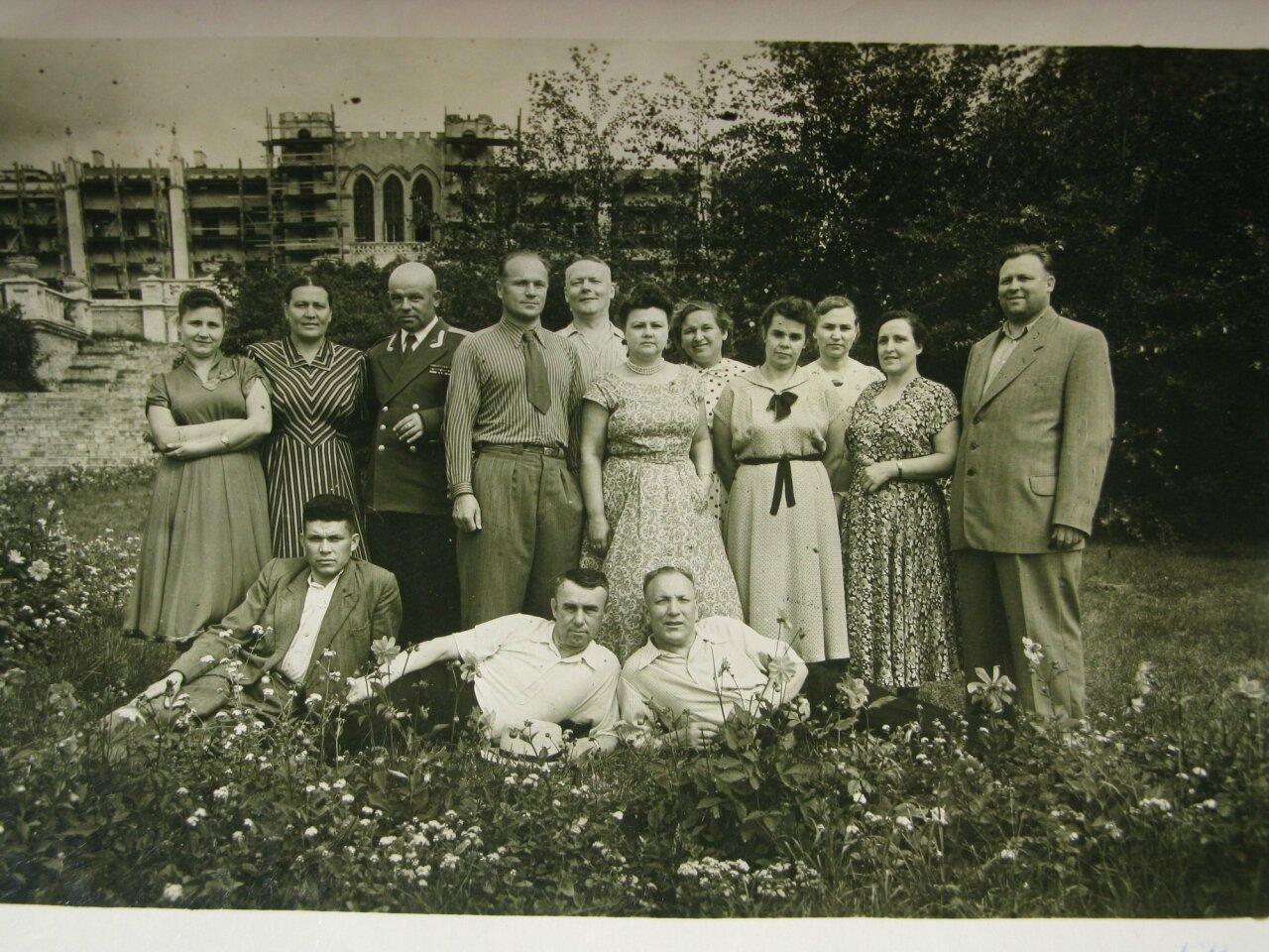 1954. Отдыхающие санатория Марфино (Московская область)