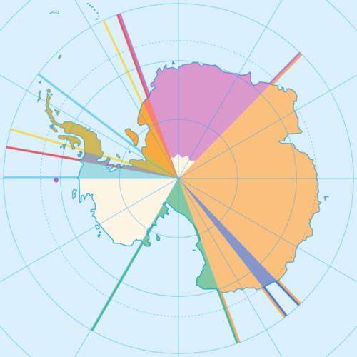 Карта Антарктиды.