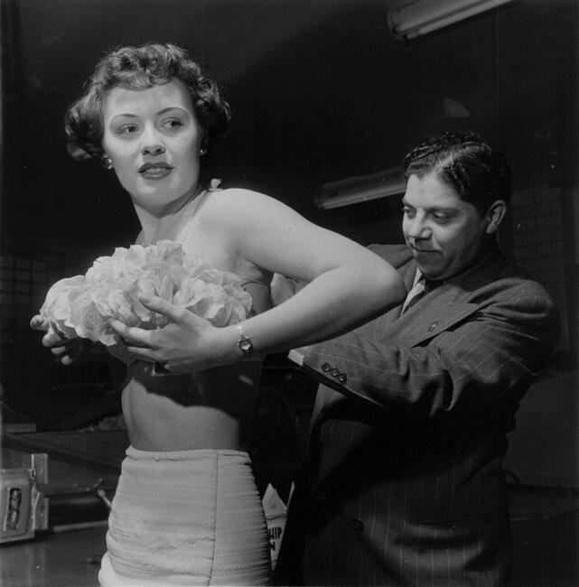 Potato Chip Convention (potato chip bra) by Wayne Miller, 1949