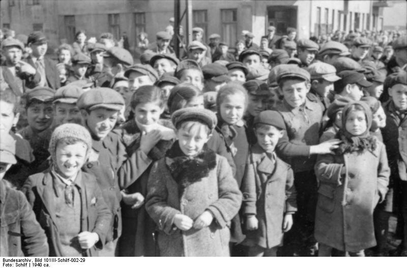 Children at the Litzmannstadt (Łódź) Ghetto, winter 1940 Litzmannstadt was the second-largest ghetto (after the Warsaw Ghetto) established for Jews and Roma in German-occupied Poland.
