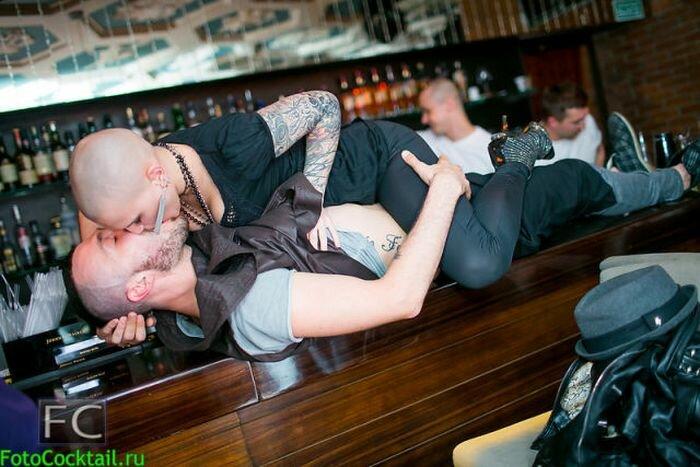 Гламурные посетители московских ночных клубов