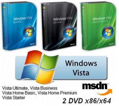 Windows Vista SP2 Final Оригинальные Русские образы