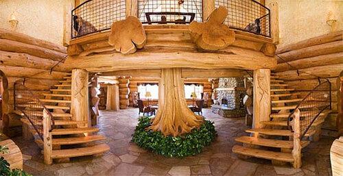 Типы деревянных домов: например дома из оцилиндрованного бревна