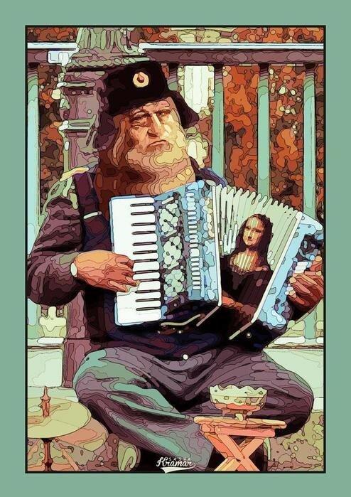Если бы знаменитые художники жили в России, они занимались бы... Чем?