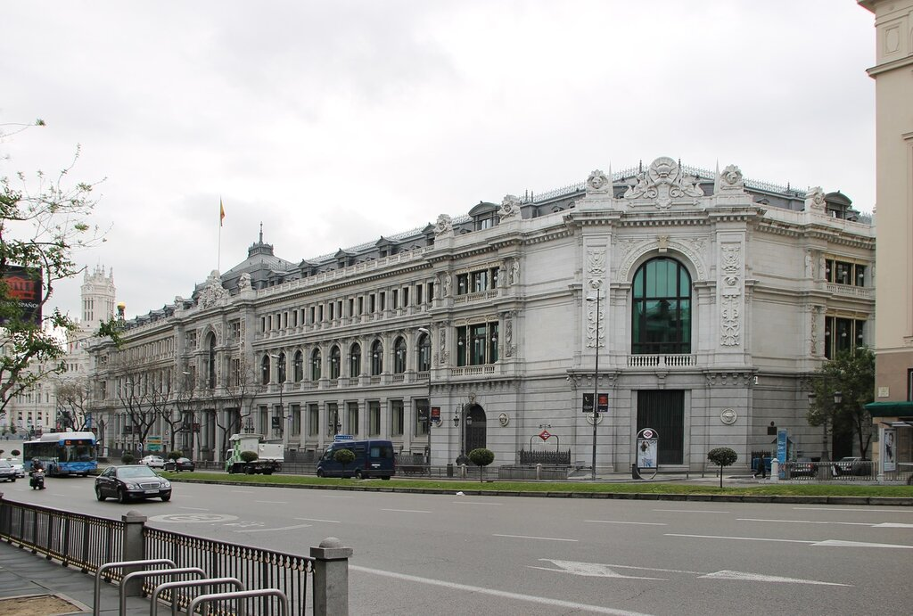 Мадрид. Здание Банка Испании (Banco de España)