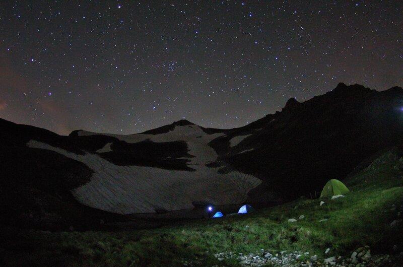 Наш легерь ночью.