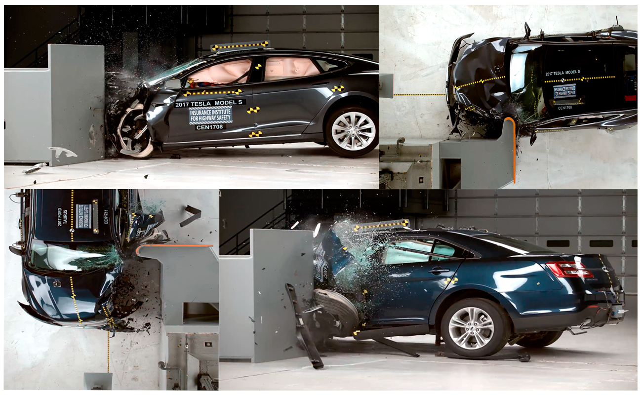 2017 Ford Taurus & Tesla Model S Crash Test