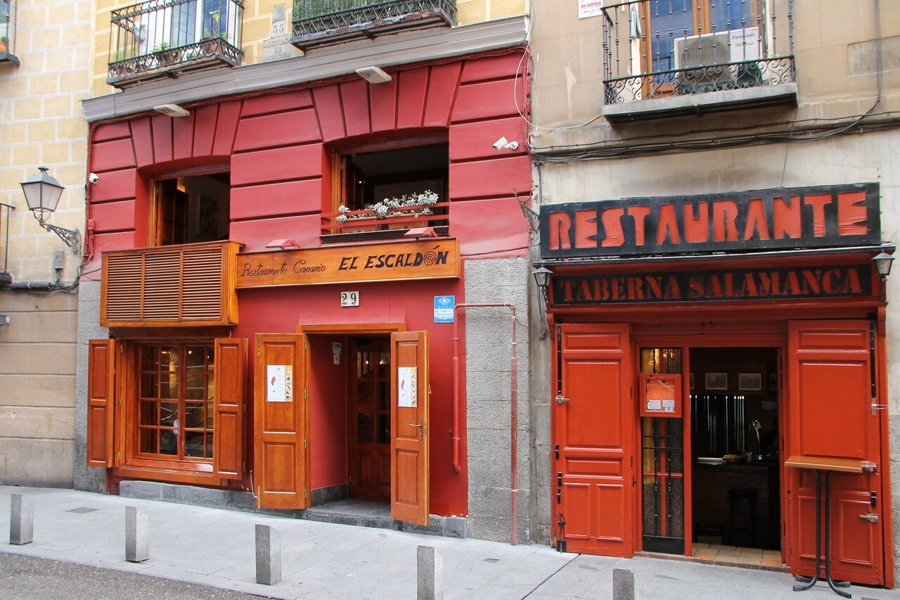Madrid. Restaurants El Escaldon and Taberna Salamanca