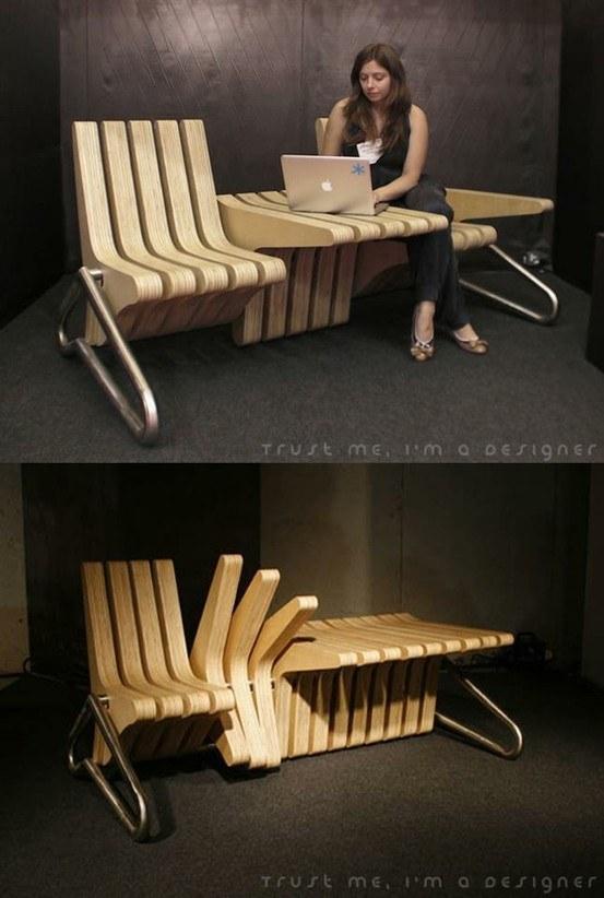 Многофункциональная скамейка, которую можно подстроить под свои нужды в любой момент.