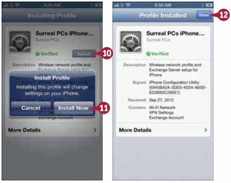 iPhone установит конфигурационный профиль